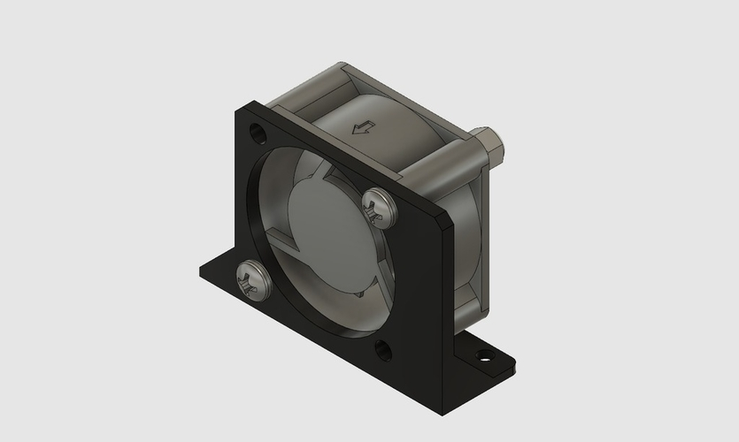 Control Box (4020) Fan Mount for Ender-2  3D Print 201723