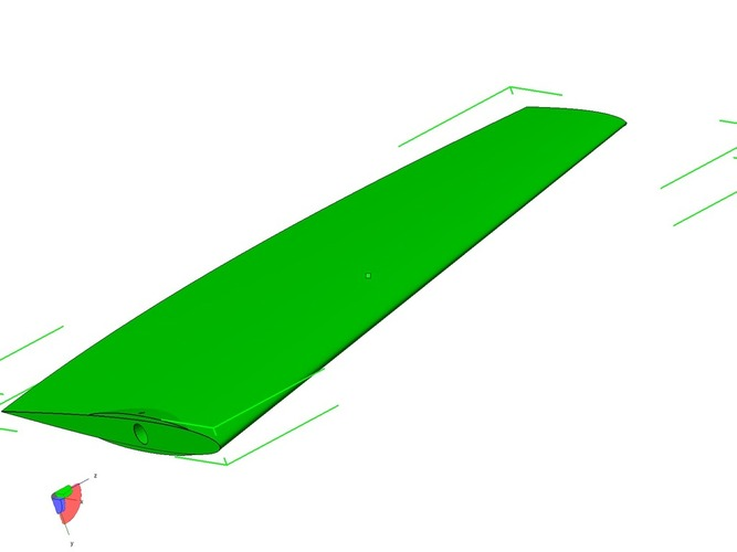 Surfski rudder plug for moulding/casting from. 3D Print 20179