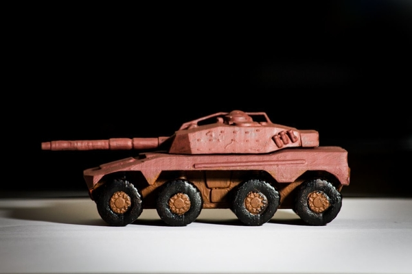 Medium Rooikat Amourd Car( Wargame ) 3D Printing 201839