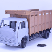 Small Classic Transport Truck No Support 3D Printing 201854