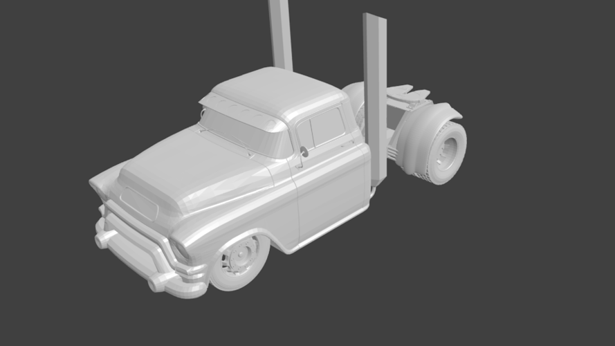 gmc truck rat rod hot rod 3D Print 201868
