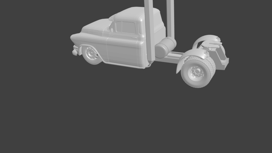 gmc truck rat rod hot rod 3D Print 201872