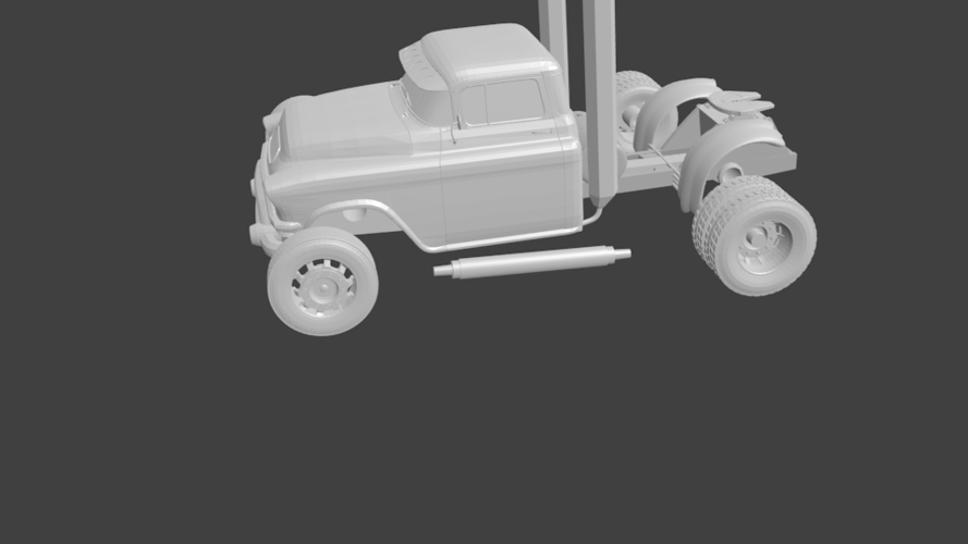 gmc truck rat rod hot rod 3D Print 201873