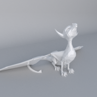 Small Low Poly Dragon- support free 3D Printing 20188