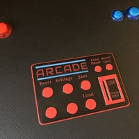 Small Arcade Machine Directions Card 3D Printing 201880
