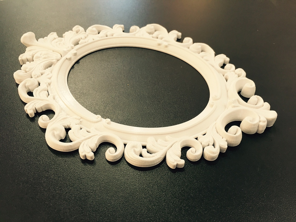 637c9aae454 3D Printed Baroque Picture Frame by alex grima