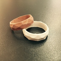 Small Low poly ring  3D Printing 20198