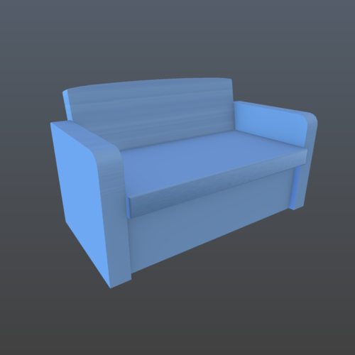 Patio 3 items, couch, sofa 3D Print 201993