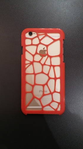 Voronoi case iPhone 6  3D Print 20200