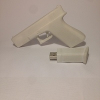 Small GLOCK USB KEY 3D Printing 20204