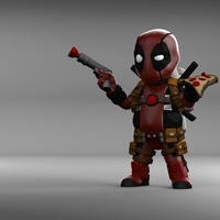 Small Chubby Deadpool 3D Printing 202170
