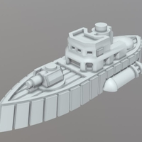 Small Currie Class Corvette 3D Printing 202304