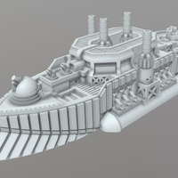 Small Albion Class Demi-Dreadnought 3D Printing 202307