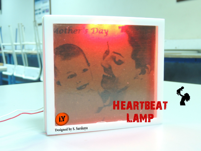 HEARTBEAT LAMP - MOTHER'S DAY GIFT 3D Print 202308