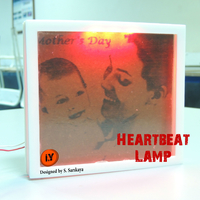 Small HEARTBEAT LAMP - MOTHER'S DAY GIFT 3D Printing 202308