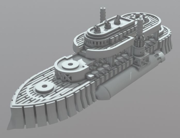 Medium Nova Scotia Class Battleship 3D Printing 202309