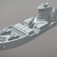 Small Rostock Class Armoured Supply Carrier 3D Printing 202312