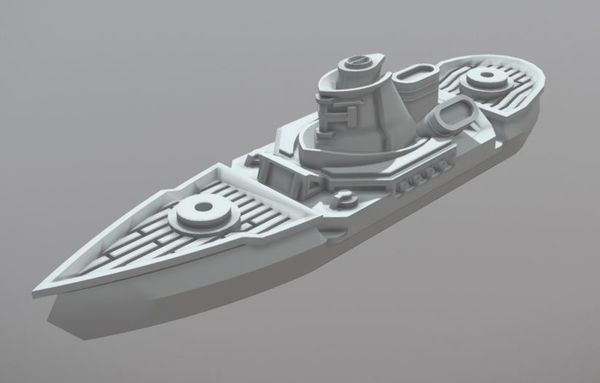 Medium Soldat Class Light Cruiser 3D Printing 202315