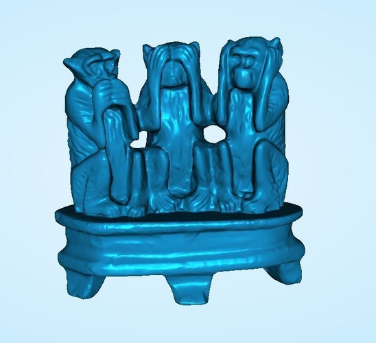 The 3 Wise Monkeys 3D Print 202581