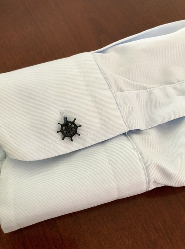 Anchor & Wheel Cufflinks 3D Print 202711
