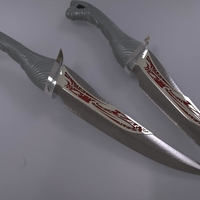Small Drax Knives/daggers from guardians of the galaxy 3D Printing 202760