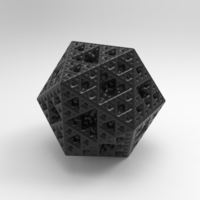 Small 3d fractal object with stl 3D Printing 202766