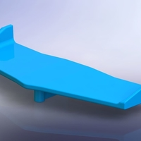 Small FT012 Spoiler - RC Boat 3D Printing 202896