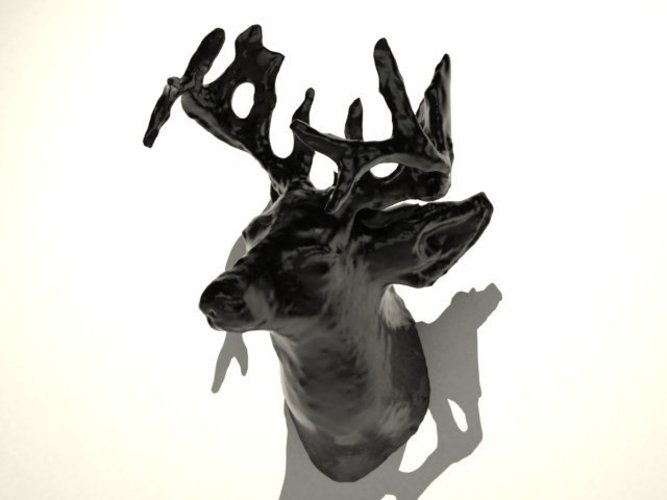 deer with two 10mm diameter holes for magnets. 3D Print 20292