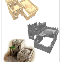Small modular arabic building set (stl file) 3D Printing 202934