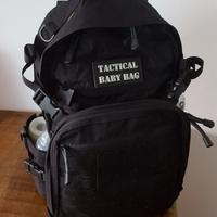 Small Tactical Baby Bag Patch 3D Printing 202943