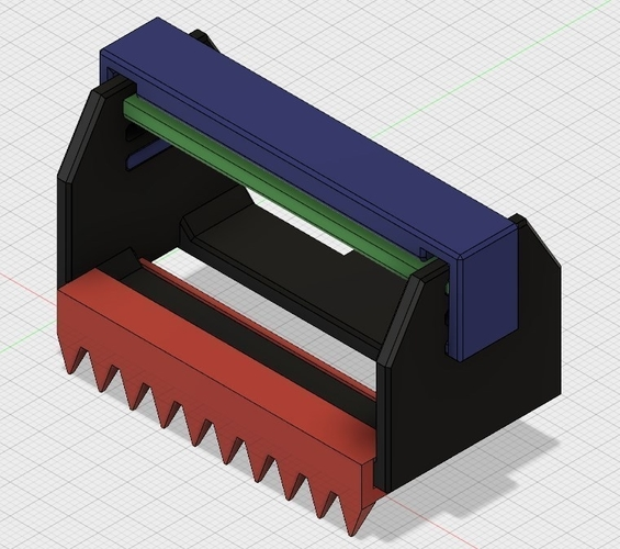 Tape dispenser cutter 50mm - V2.5 3D Print 202952