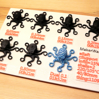 Small 3D Printed Octopuses for quality test [ size=50mm ] (1) 3D Printing 20306