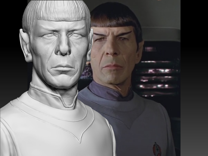 Mr. Spock from Star Trek. Leonard Nimoy 3D Print 203167