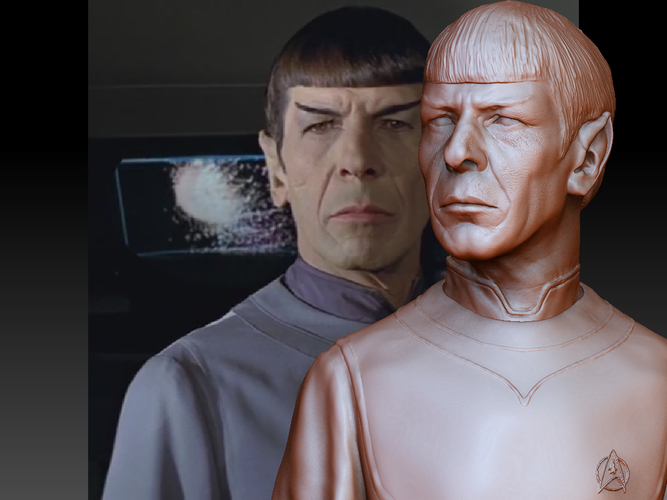 Mr. Spock from Star Trek. Leonard Nimoy 3D Print 203169