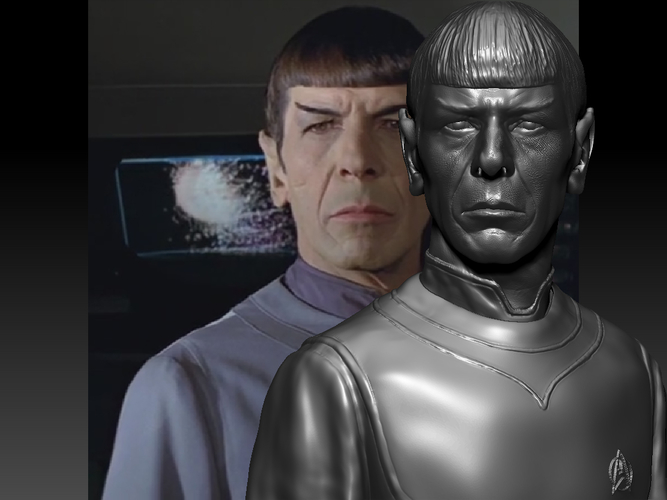 Mr. Spock from Star Trek. Leonard Nimoy 3D Print 203170