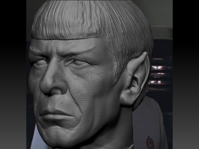 Mr. Spock from Star Trek. Leonard Nimoy 3D Print 203172