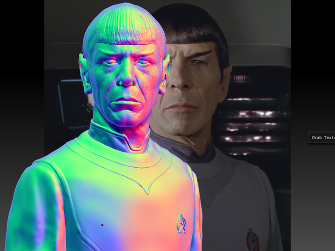 Mr. Spock from Star Trek. Leonard Nimoy 3D Print 203173