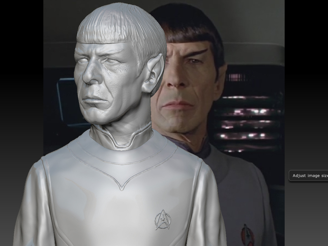 Mr. Spock from Star Trek. Leonard Nimoy 3D Print 203174