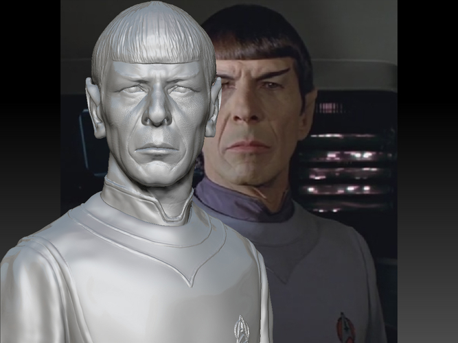 Mr. Spock from Star Trek. Leonard Nimoy 3D Print 203175
