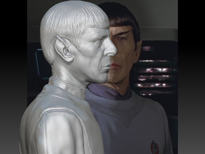 Mr. Spock from Star Trek. Leonard Nimoy 3D Print 203176