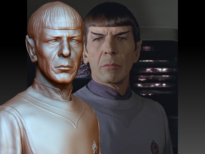 Mr. Spock from Star Trek. Leonard Nimoy 3D Print 203177