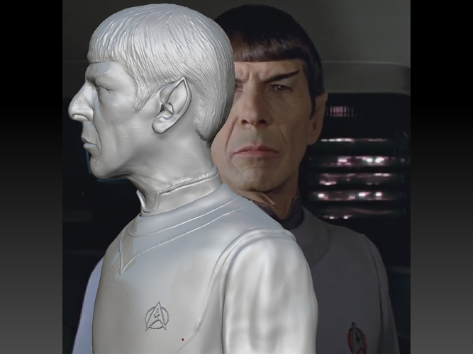 Mr. Spock from Star Trek. Leonard Nimoy 3D Print 203178