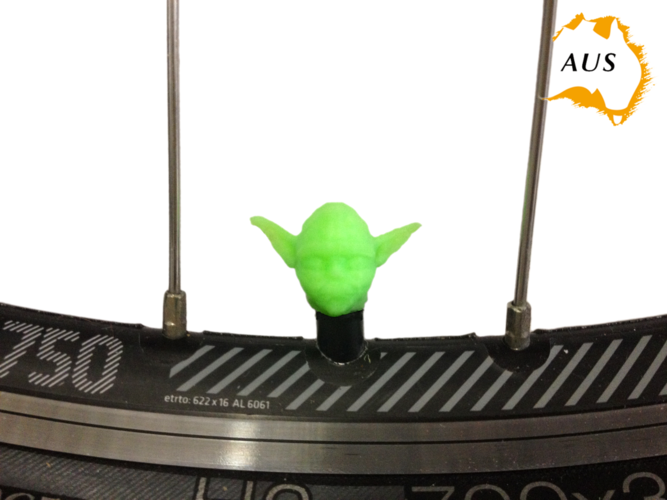 Yoda Bicycle Tyre Caps Bike Car Van Truck Valve Wheel Star Wars 3D Print 203245