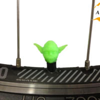 Small Yoda Bicycle Tyre Caps Bike Car Van Truck Valve Wheel Star Wars 3D Printing 203245