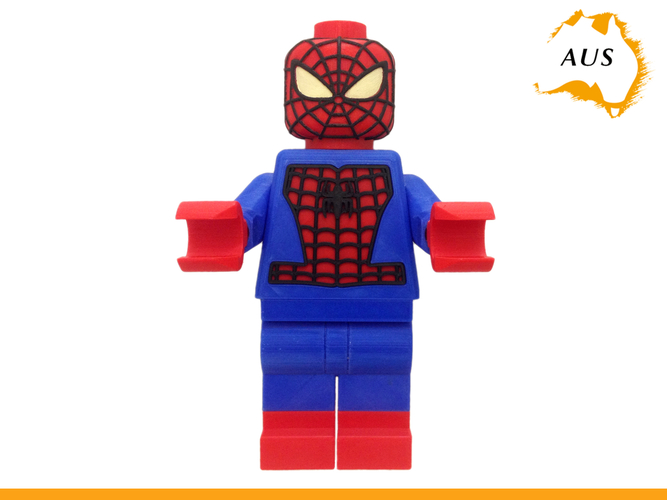 Lego Spider Man Toilet Roll Holder Bathroom Decor Hook Hanger 3D Print 203412