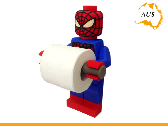 Lego Spider Man Toilet Roll Holder Bathroom Decor Hook Hanger 3D Print 203413