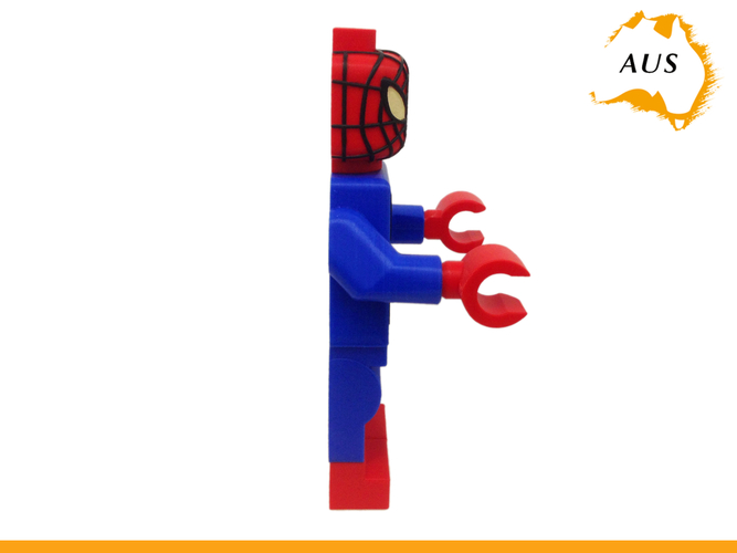 Lego Spider Man Toilet Roll Holder Bathroom Decor Hook Hanger 3D Print 203415