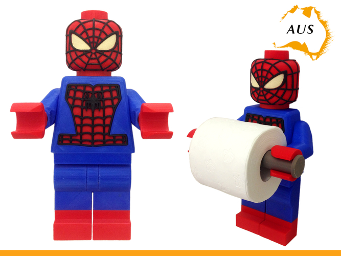 Lego Spider Man Toilet Roll Holder Bathroom Decor Hook Hanger 3D Print 203416