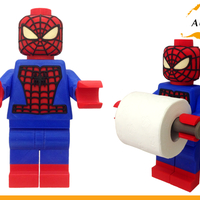 Small Lego Spider Man Toilet Roll Holder Bathroom Decor Hook Hanger 3D Printing 203416