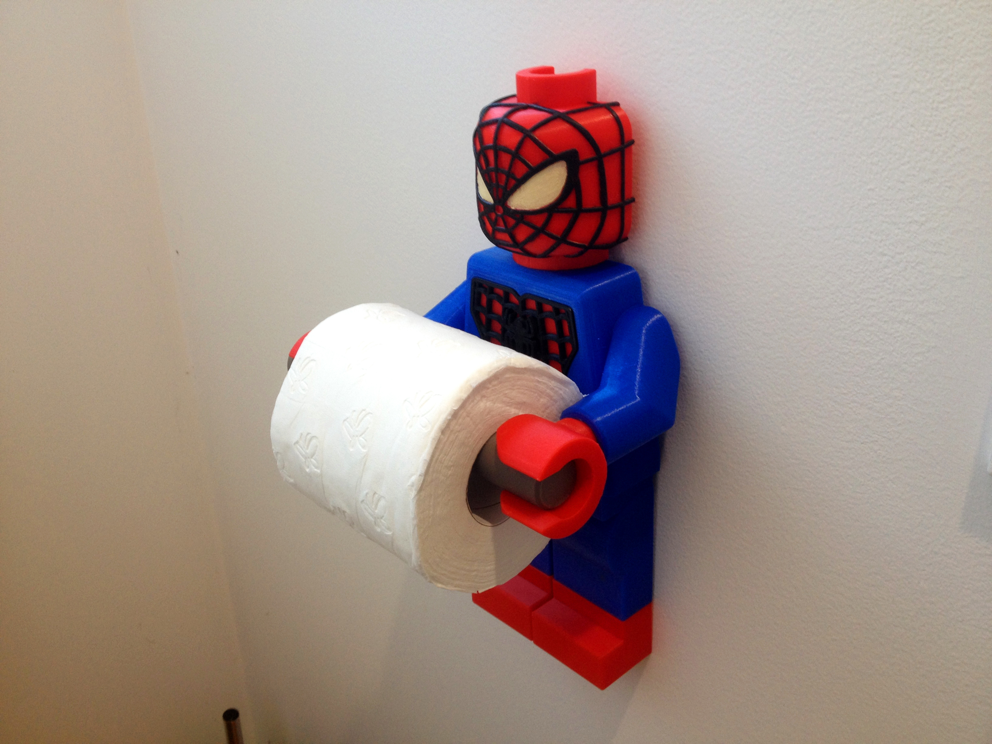 Lego Spider Man Toilet Roll Holder Bathroom Decor Hook Hanger Pinshape